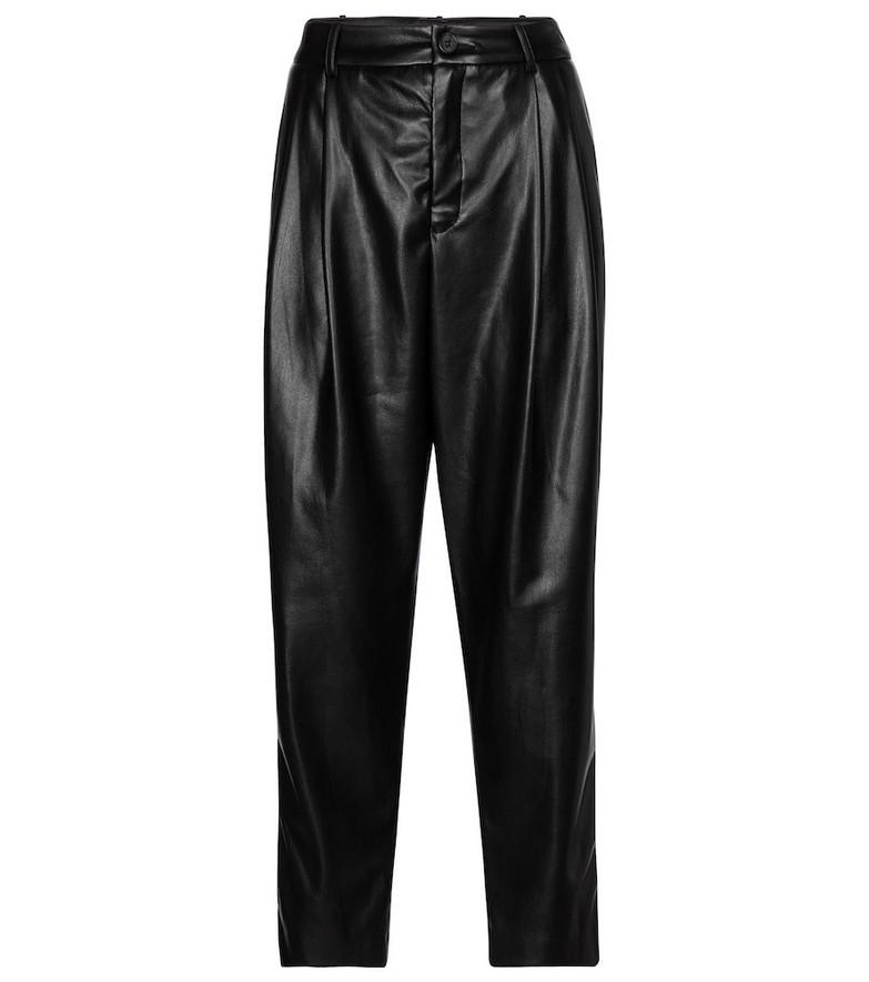Velvet Simone faux leather tapered pants in black