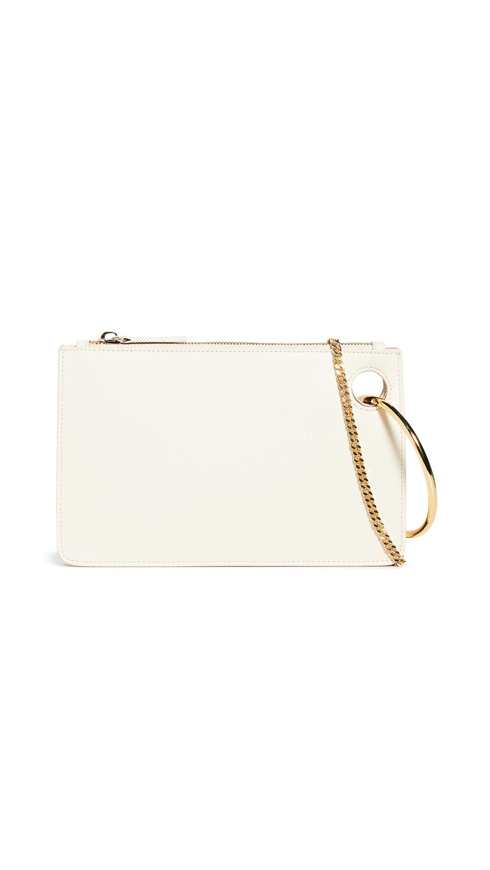 Parisa Wang Hooked Chain Bag in brown / cream