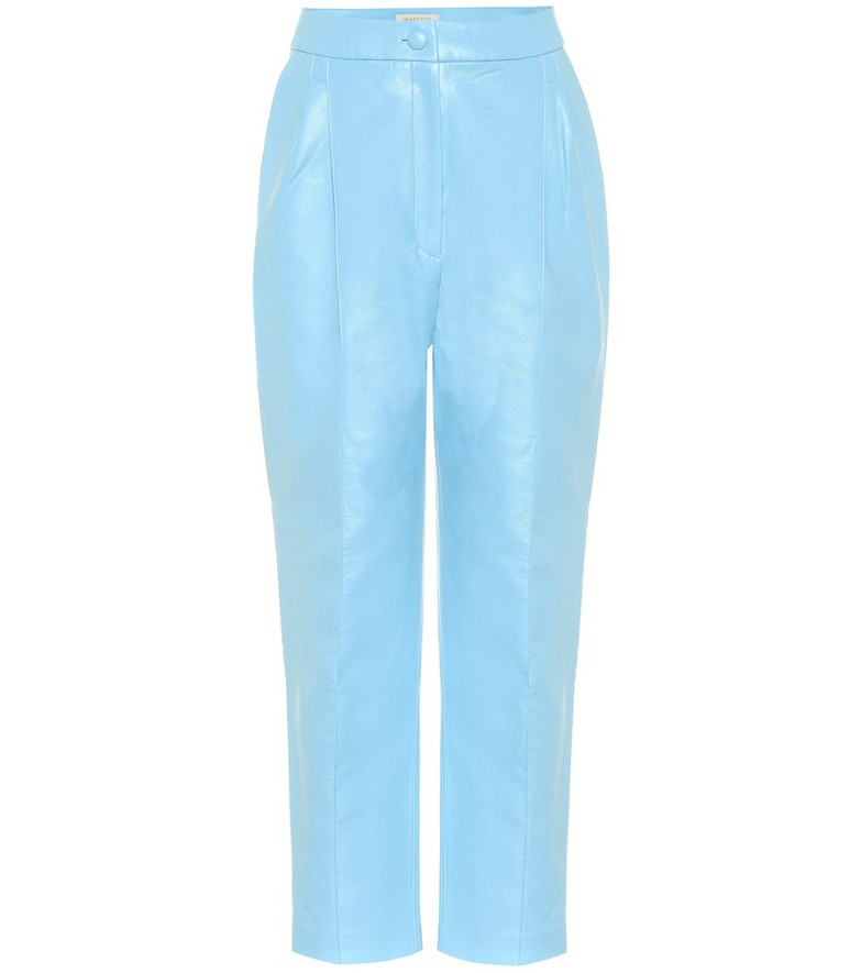 Matériel Tbilisi High-rise faux leather pants in blue