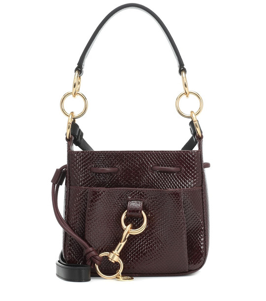 See By Chloé Tony Small leather bucket bag in red