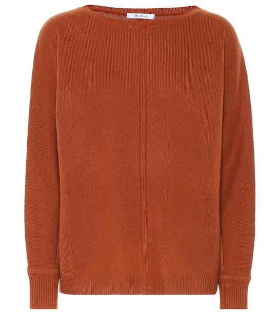 Max Mara Masque cashmere sweater in orange