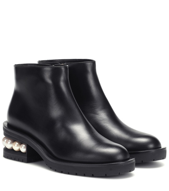 Nicholas Kirkwood Casati 35mm leather ankle boots in black