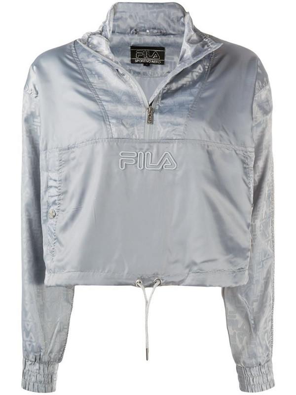 Fila Tarquinia logo track jacket in silver