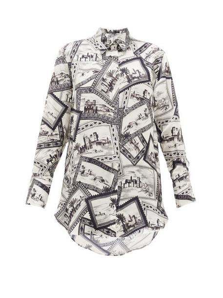 Joseph - Dawson Stamp-print Shirt - Womens - Black White