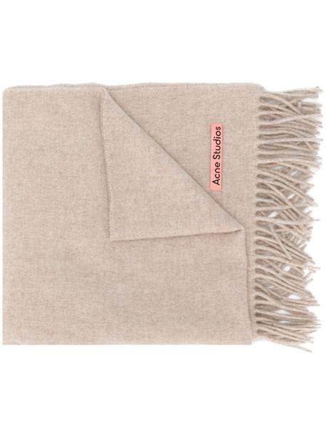 Acne Studios Canada New fringed scarf in neutrals