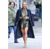 dress,keyhole dress,karrueche,celebrity,mini dress,metallic,silver,silver dress