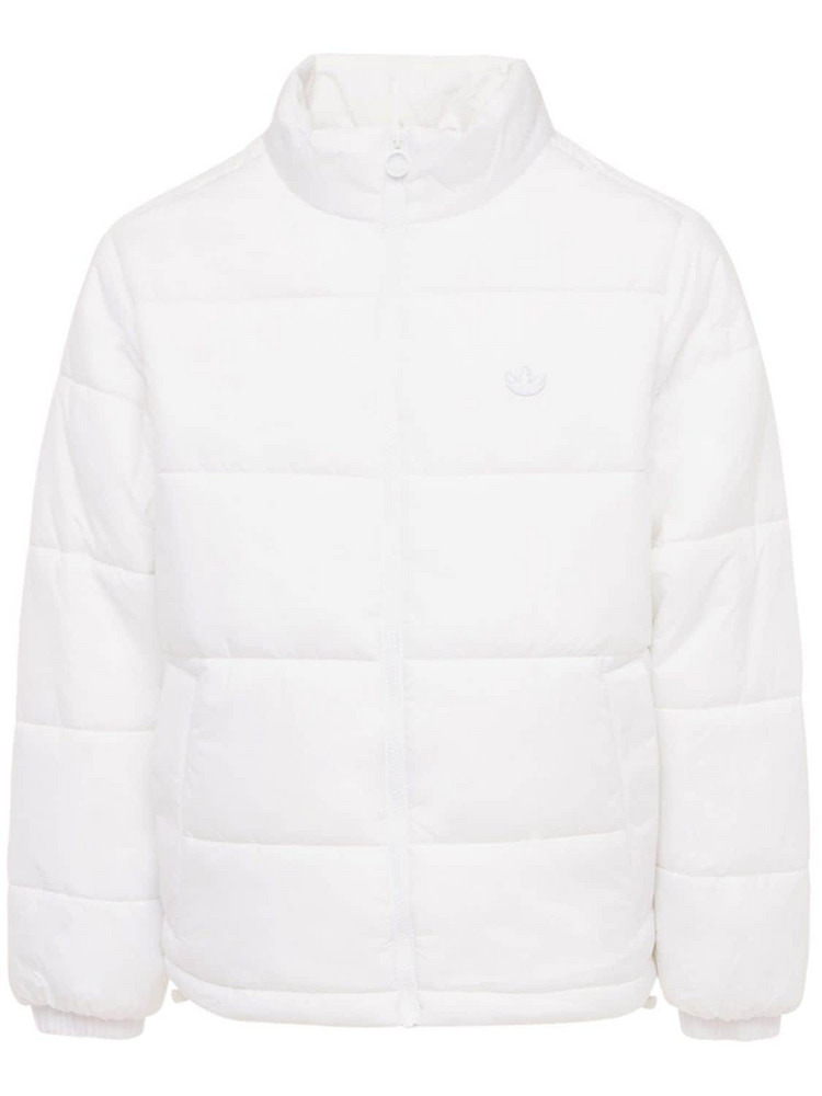ADIDAS ORIGINALS Padded Puffer Jacket W/ Stand Collar in white