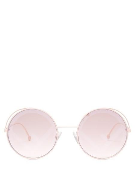 metal light pink light sunglasses pink
