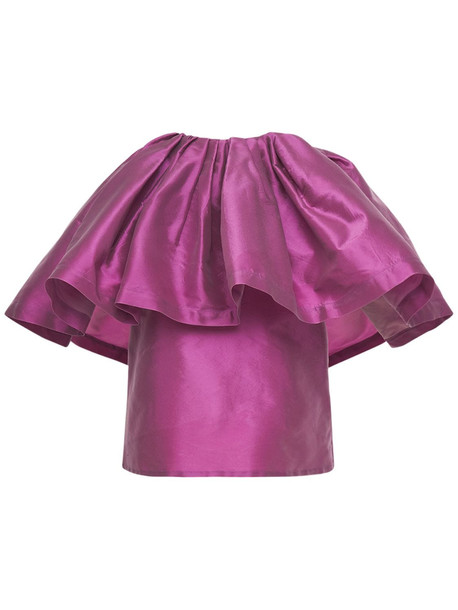 MARQUES'ALMEIDA Recycled Taffeta Sleeveless Top in lilac