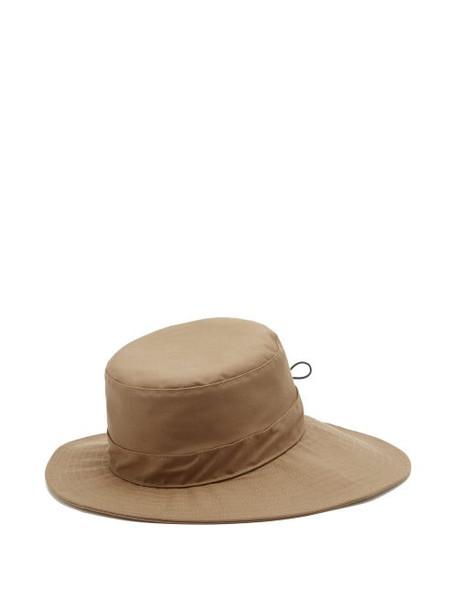 Chloé Chloé - Drawcord Wide-brim Cotton-canvas Hat - Womens - Light Brown