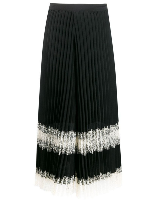 Twin-Set pleated lace trousers in black
