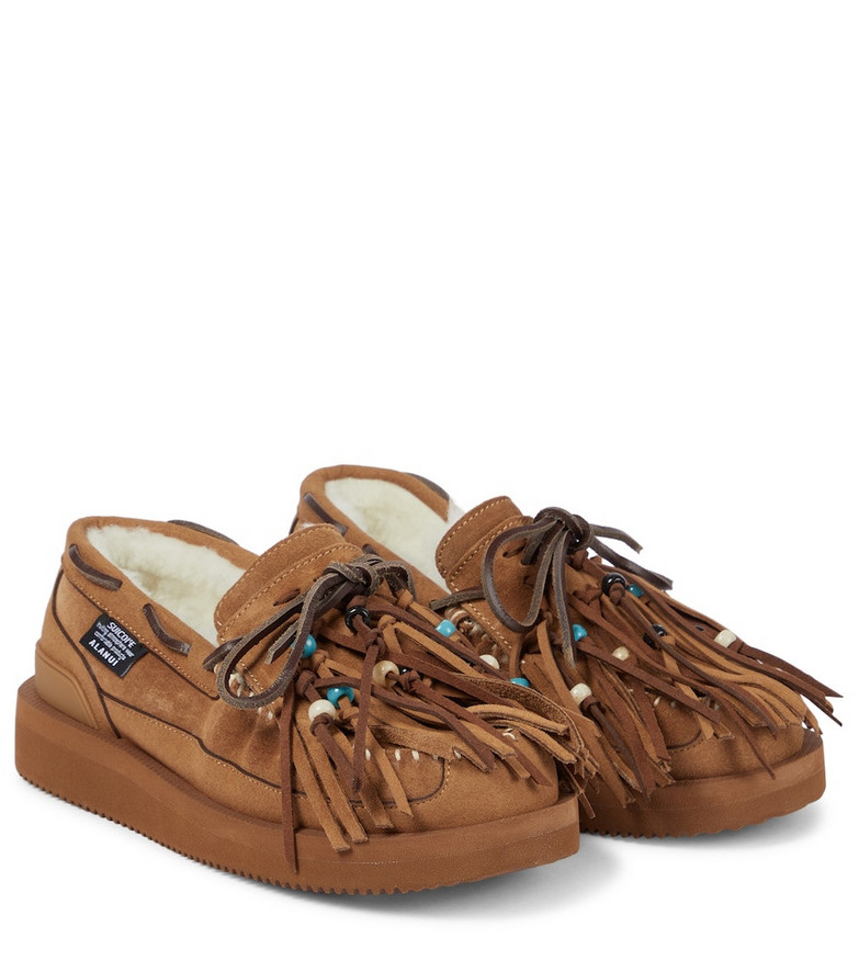ALANUI x Suicoke Owm suede moccasins in brown