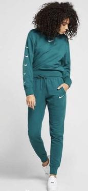 sweater,jumper,hoodie,nike,green