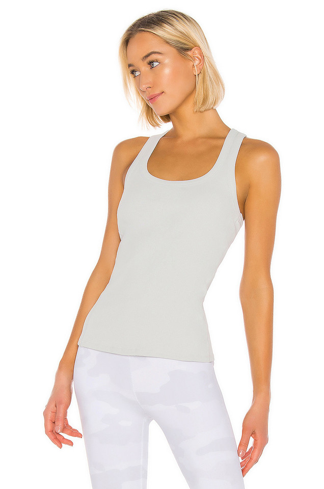 alo Rib Support Tank in gray