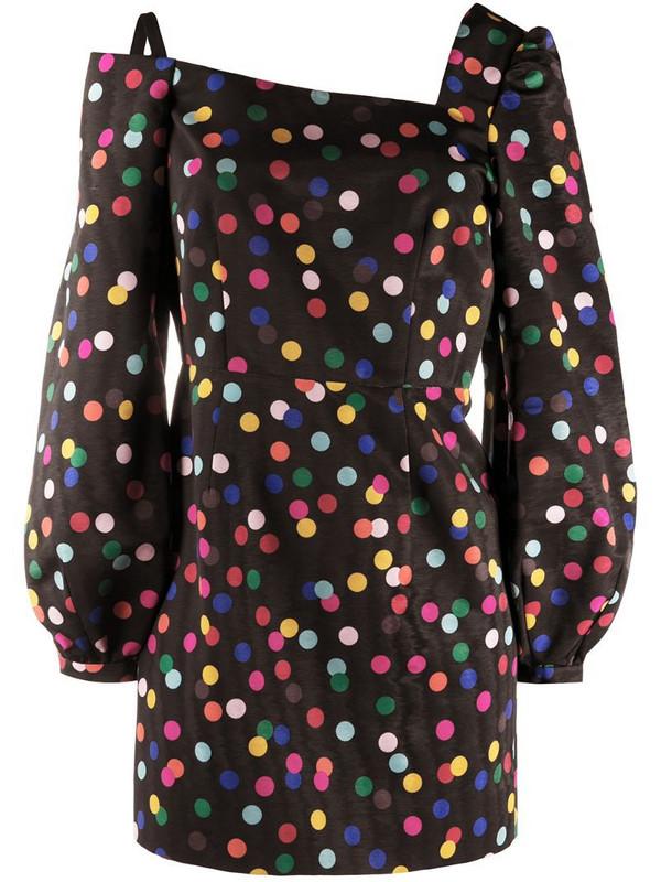 Racil polka-dot mini dress in black