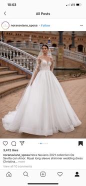 dress,nora naviano wedding dress.