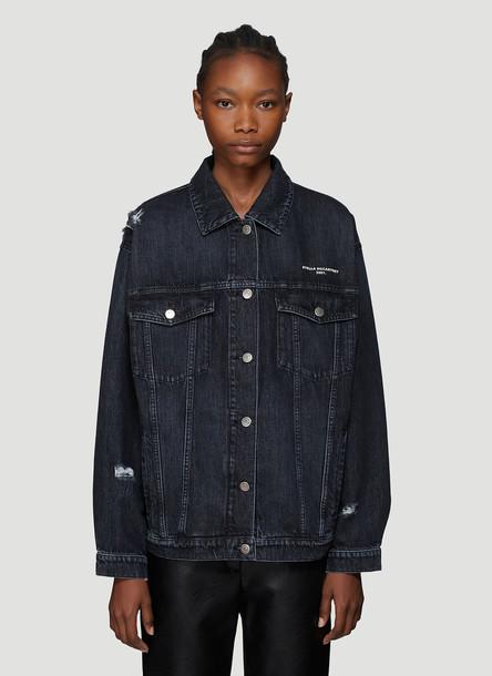 Stella McCartney Distressed Denim Jacket in Blue size IT - 40