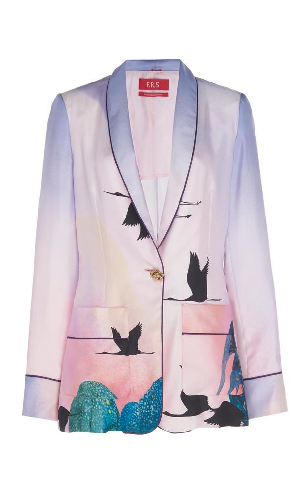 For Restless Sleepers Kakia Printed Silk Pajama Blazer in multi