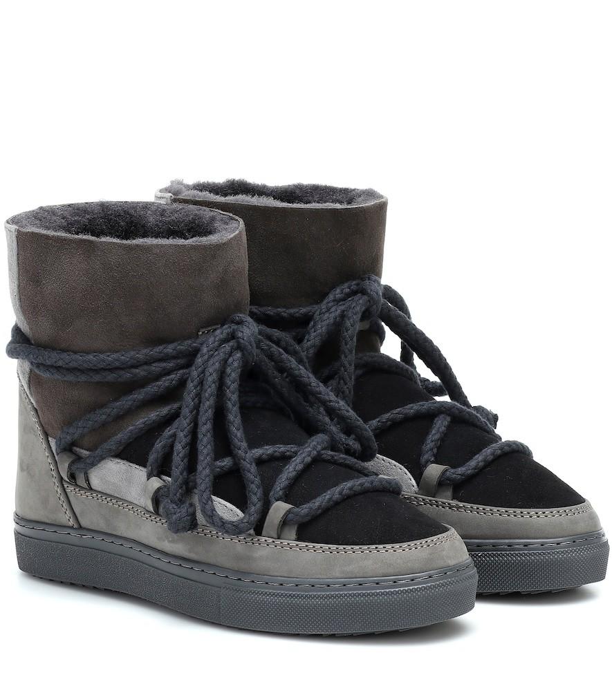 Inuikii Sneaker suede boots in grey