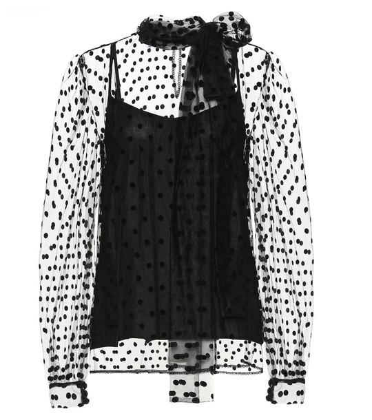 Costarellos Polka-dot blouse in black