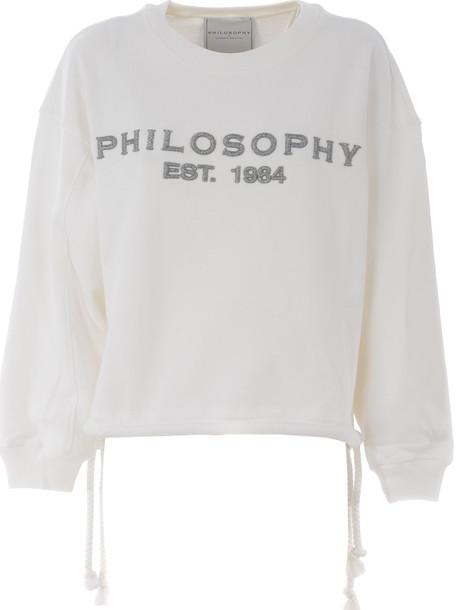 Philosophy Di Lorenzo Serafini Rope And Logo Sweatshirt in bianco