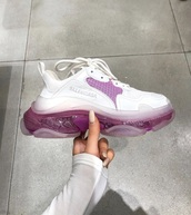 shoes,pink,sneakers,balenciaga,white