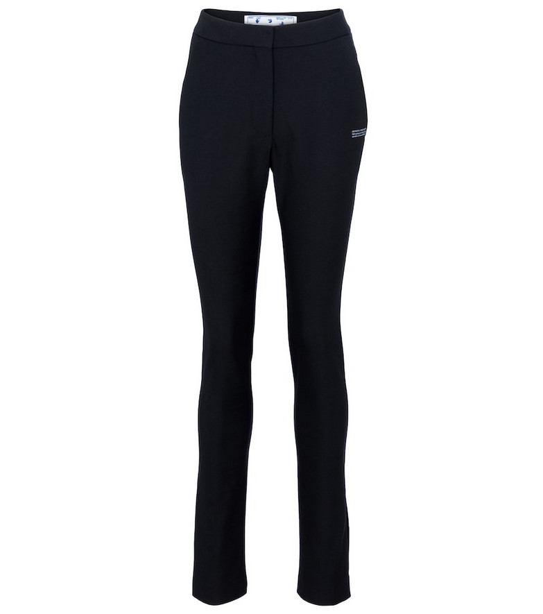 Off-White Mid-rise skinny jersey pants in black
