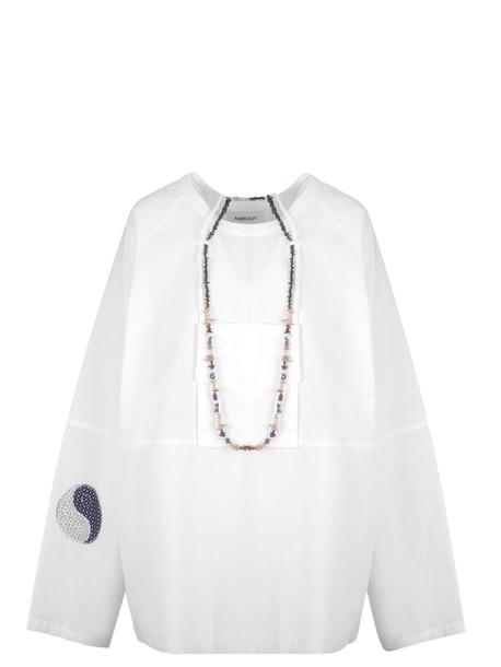Ambush Oversized Long-sleeve Blouse in white