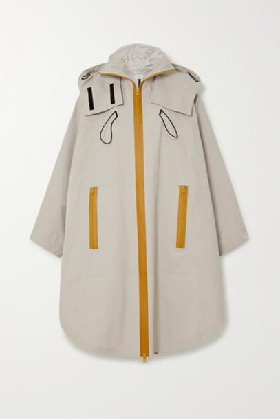 Bottega Veneta - Oversized Hooded Shell Jacket - Beige