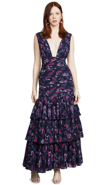 Fame and Partners The Dahlia Dress in navy