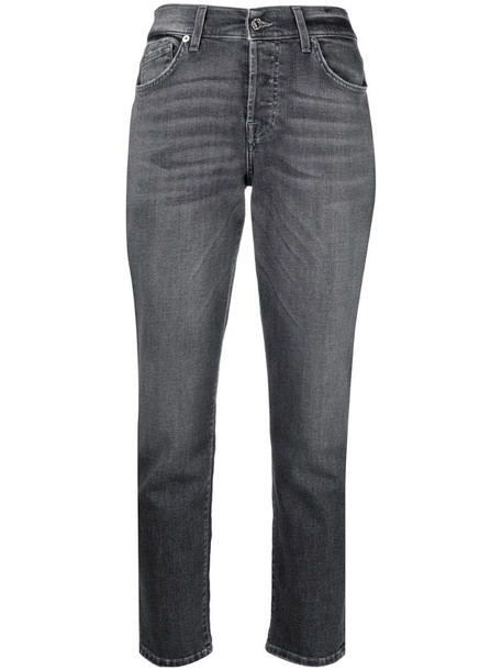 7 For All Mankind cropped jeans in grey