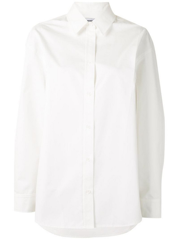 We11done button-up long-sleeve shirt in white