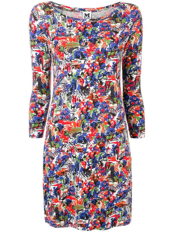 Missoni Pre-Owned 1990's abstract print fitted dress in blue