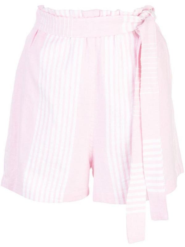 lemlem Rekik tie belt shorts in pink