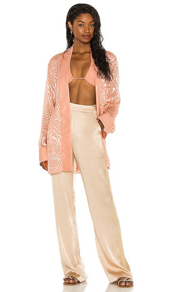 Tell Your Friends Kimono in Rose in print