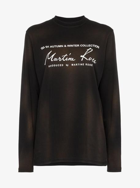Martine Rose logo print long sleeve cotton T-shirt