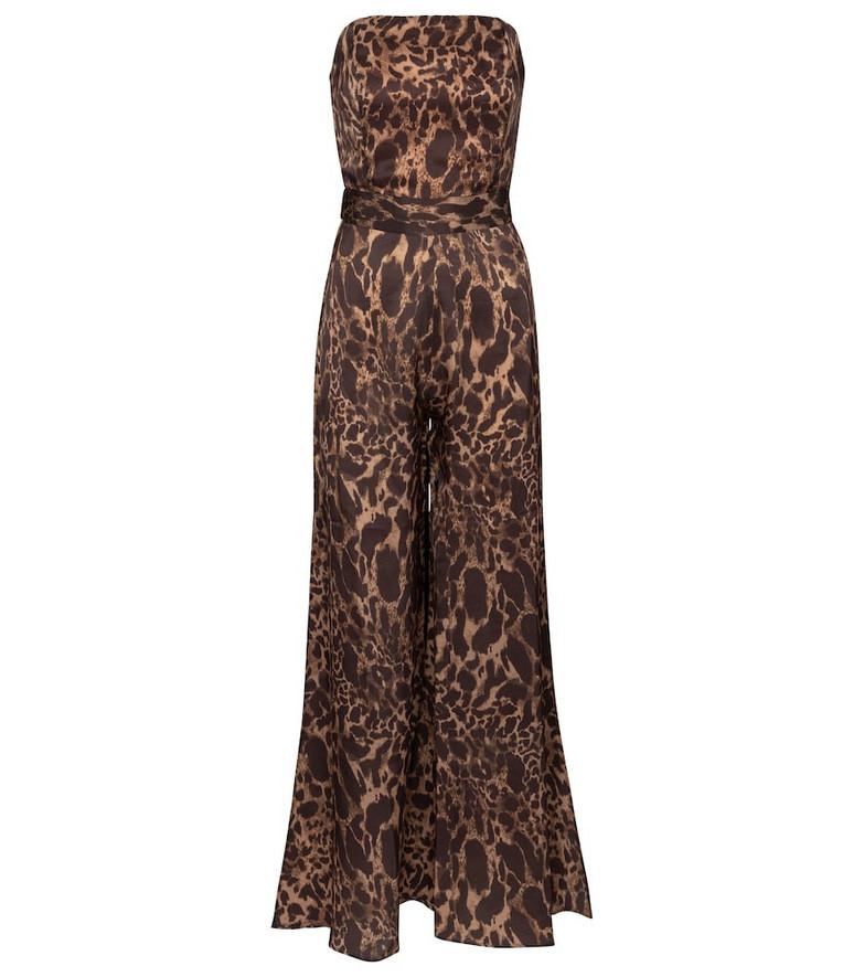 Alexandra Miro Exclusive to Mytheresa – Clara leopard-print jumpsuit in brown