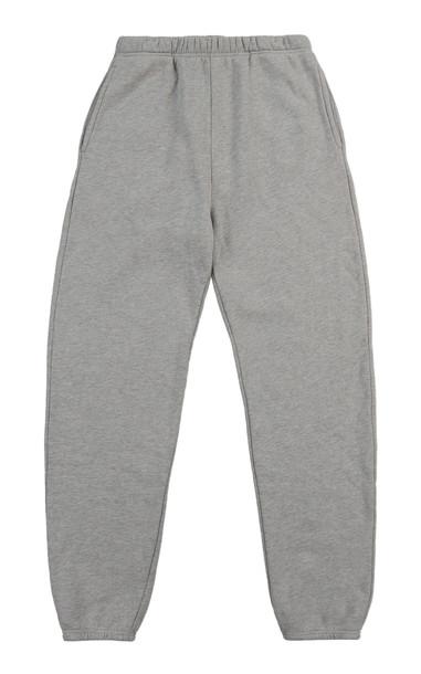 Les Tien Classic Cotton Sweatpants in grey