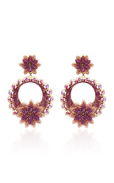 Rosario Holguin Purpurea Orchids Earrings in multi