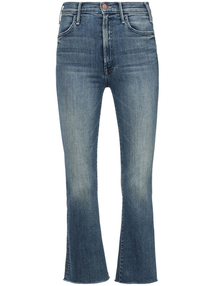 MOTHER The Hustler Ankle Fray Jeans in blue