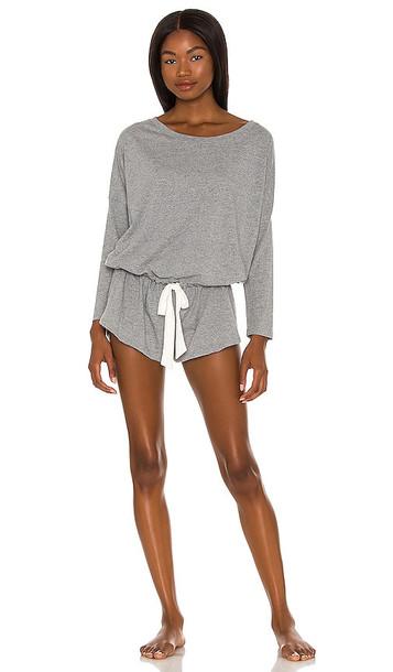 eberjey Heather Lounge Romper in Grey