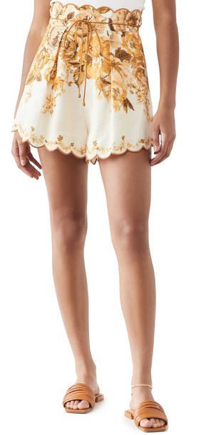Zimmermann Aliane Scallop Shorts