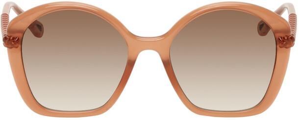 Chloé Chloé Pink Oval Sunglasses