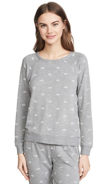 PJ Salvage Amour Love Sweatshirt in grey