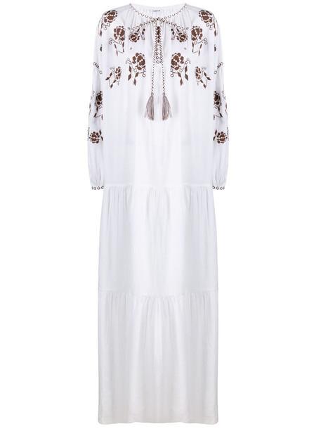 P.A.R.O.S.H. Cruel embroidered maxi dress in white
