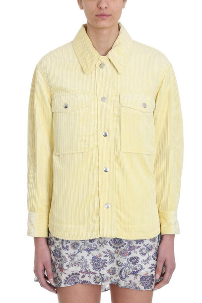Isabel Marant Marvey Corduroy Jacket in yellow