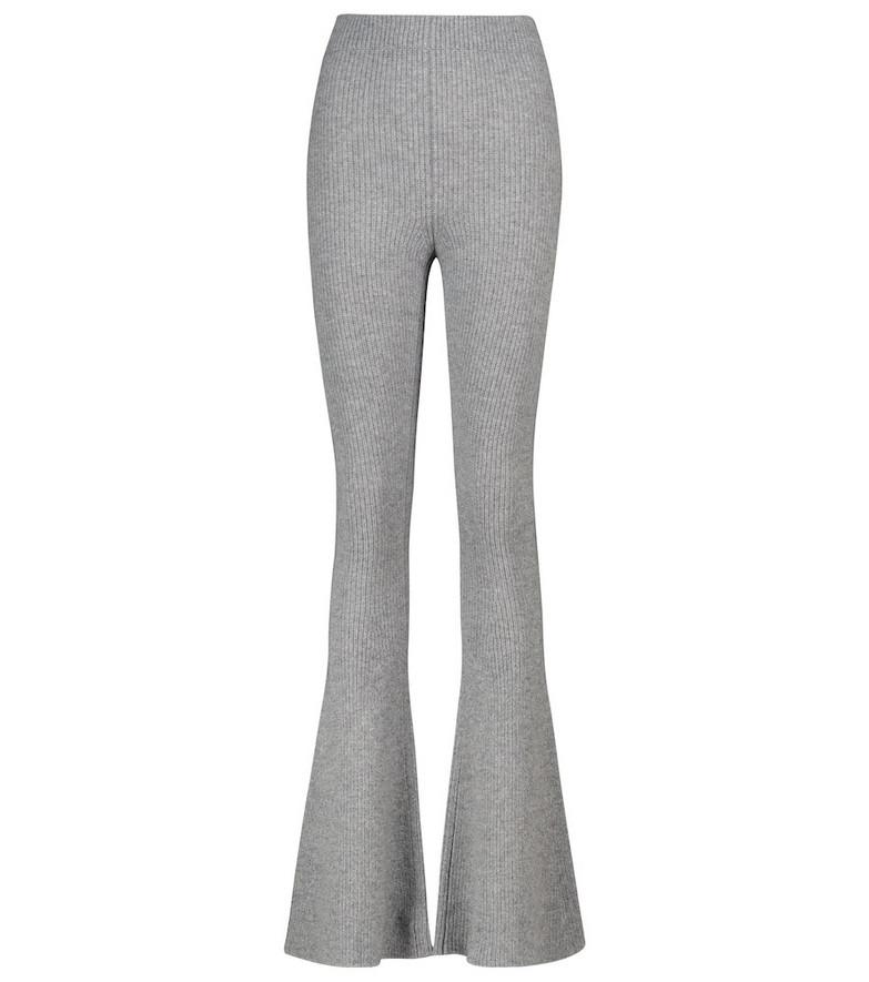ALANUI Sierra ribbed-knit flared pants in grey
