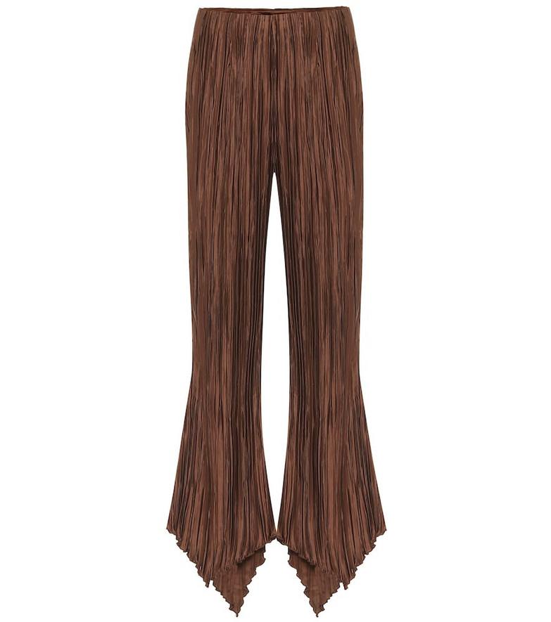 Cult Gaia Keira high-rise linen wide-leg pants in brown