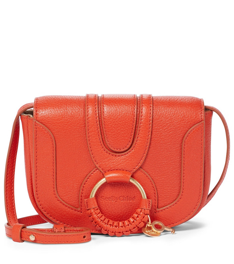 See By Chloé Hana Mini leather shoulder bag in orange