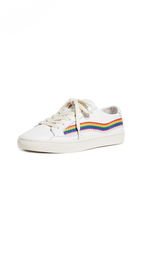 Soludos Rainbow Wave Sneakers in white